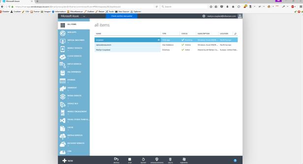 Microsoft Azure Classic Portal
